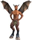 Angelo scuro, diavolo, malvagità, isolata fotografie stock libere da diritti