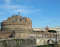 angelo slott sant rome Royaltyfri Fotografi