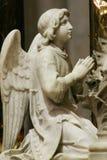 Angelo, statua sull'altare principale nella cattedrale di Zagabria Fotografia Stock Libera da Diritti