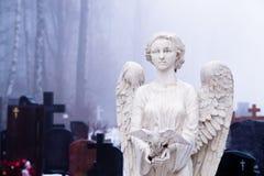 Angelo su un cimitero Fotografia Stock Libera da Diritti