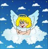 Angelo sul cielo Illustrazione Vettoriale