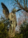 Angelo sul cimitero Immagini Stock Libere da Diritti