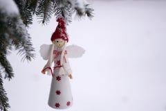 Angelo sull'albero Fotografia Stock Libera da Diritti