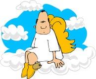 Angelo sulla nube 9 Fotografie Stock Libere da Diritti