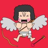 Angelo sveglio del cupido Cupido romanzesco illustrazione di stock