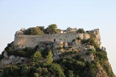 Angelokastro,科孚岛,希腊 库存照片