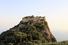 Angelokastro,科孚岛,希腊 免版税库存照片