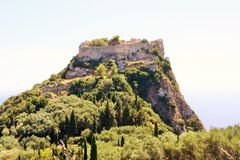 Angelokastro, Κέρκυρα, Ελλάδα Στοκ Φωτογραφίες