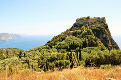 Angelokastro, Корфу, Греция стоковые фотографии rf