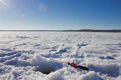 Angelrute des Winters Lizenzfreies Stockfoto