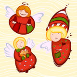 Angels. Abstract style fairys illustration vector Royalty Free Stock Photography