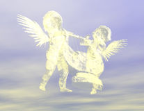 Angels. Digital visualization of two cherubs Stock Photography
