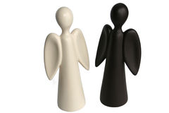 Angels. Figures of two angels - black and white Stock Images