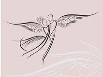Angels royalty free illustration