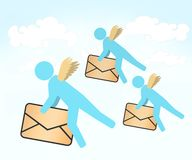 Angels air mail Royalty Free Stock Image