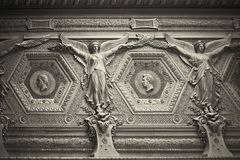 Angels. Angel moulding Paris France Louve Royalty Free Stock Photos