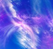 Angels are around us, blue and indigo energy and feathery clouds photographed in Bloemfontein, South Africa