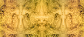 Angels Background Pattern Royalty Free Stock Images