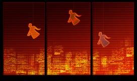 angels background series window Στοκ Φωτογραφίες
