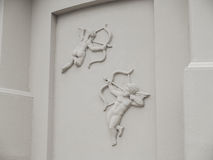 Angels bas relief Cupid Royalty Free Stock Images
