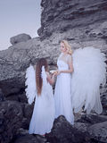 Angels on the beach Royalty Free Stock Images