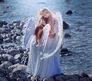 Angels on the beach Royalty Free Stock Photos