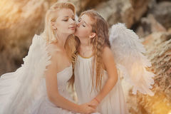 Angels on the beach Stock Image