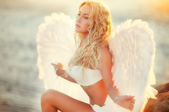 Angels on the beach Royalty Free Stock Photography