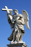 Angels on the bridge. One of the angels on the bridge Ponte Sant Angelo in Rome, Italy Stock Image