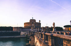 Angels Castle in Rome, ambient evening light Stock Images