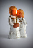 Angels ceramic candlestick Royalty Free Stock Photo