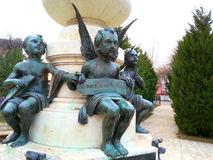 Angels childs statues Stock Images