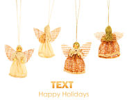 Angels Christmas border Stock Photo