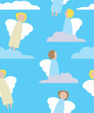 angels and clouds Royalty Free Stock Photography