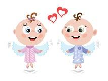 Angels,CMYK Royalty Free Stock Image