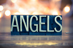 Angels Concept Metal Letterpress Type Royalty Free Stock Image