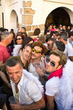 Angels and devils. BADAJOZ , SPAIN - MAY 03 : The annual lame pigeons (palomos cojos in spanish) party. A huge gay pride feast at High Square of Badajoz Stock Photography