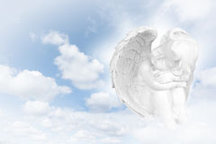 Angels dreams before sky. Abstract background royalty free stock photos