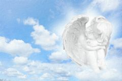Angels dreams before sky. Royalty Free Stock Images