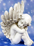 Angels dreams before stars. Angels dreams before starry sky Stock Photo
