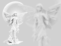 Angels, elves. With blurred reflection in background royalty free stock photography