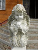Angels. At the entrance to the monastery in the town of Bohuslav in Ukraine Royalty Free Stock Photography