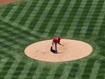 Angels Ervin Santana throwing a pitch Royalty Free Stock Photography