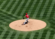 Angels Ervin Santana about to throw a pitch Stock Images
