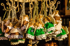 Angels, figurines at Christmas bazaar, Vienna, Austria Royalty Free Stock Photo