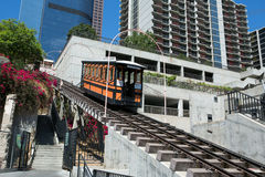 Angels Flight in Los Angeles downtown Stock Photo