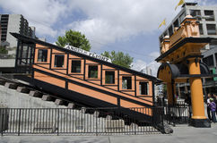 Angels Flight side view Hill Street Royalty Free Stock Images