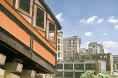 Angels Flight in Los Angeles stock photography