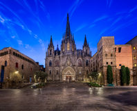 Angels Flying in front of the Cathedral of the Holy Cross Stock Photography
