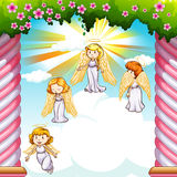Angels flying in the sky Stock Image